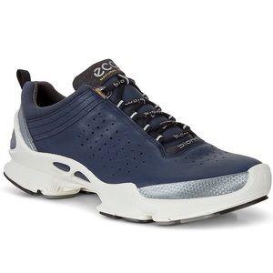 🆕 RARE ECCO Biom C Running Yak Leather, Navy Blue